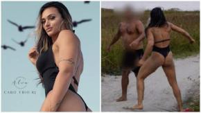 Si masturba spiando il set fotografico ma viene picchiato dalla modella lottatrice di MMA!
