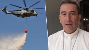 Vescovo progetta di versare acqua santa da un elicottero per esorcizzare una città!