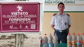 Coppia francese ruba 200 kg di sabbia in Sardegna: ora rischiano sei anni di carcere!