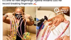 Si taglia le unghie dopo 30 anni