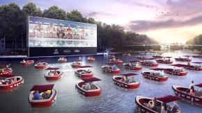 Cinema galleggiante a Parigi? L'idea perfetta per il distanziamento sociale