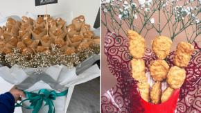A San Valentino regala un mazzo di crocchette di pollo!