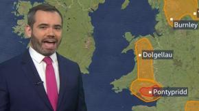 La BBC e la tempesta a forma di membro maschile sulla mappa meteorologica