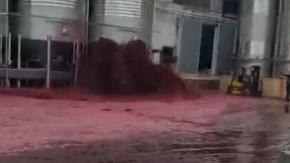Esplode serbatoio contenente 50.000 litri di vino rosso! Non siete pronti a queste immagini.