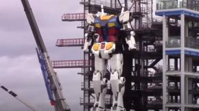 Giappone: il Gundam alto 18 metri fa i suoi primi passi