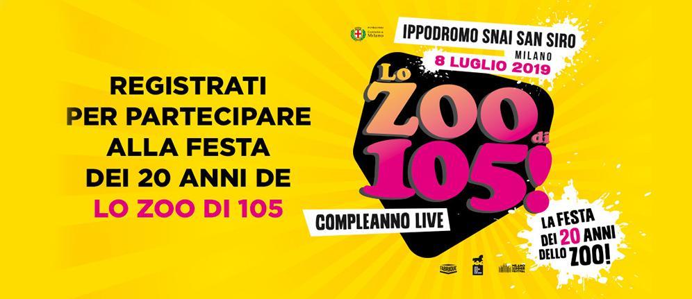 Arriva la Festa dei 20 anni de Lo Zoo di 105!